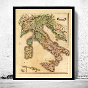 Old Map of Italy 1831 italia