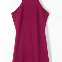 Purple Sleeveless Bodycon Dress