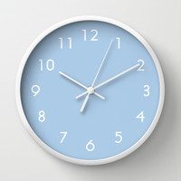 Placid Blue Wall Clock by Beautiful Homes