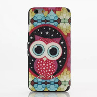 Cute Owl Leather Case Cover for iPhone 6S 6 Plus Samsung Galaxy S6