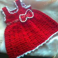 Red an White Baby Girl Dress, Baby Clothes, , Child frock, Infant Clothes,Newborn Outfit ,Infant Clothes