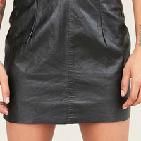 Vintage Leather Skirt - Urban Outfitters