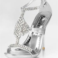 Gloria Silver 4 inch Heel by Sweeties Shoe's