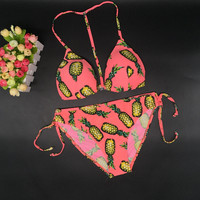 Pineapple Retro Print Bikini