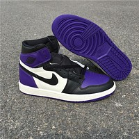 Air Jordan 1 Court Purple 555088-501