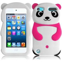 For Apple Ipod Touch 5 5th Generation Panda Silicone Jelly Skin Cover Case Hot Pink Accessory