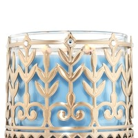 3-Wick Candle Sleeve Peacock Pattern