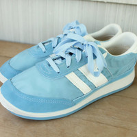 Women's Baby Blue Trax Tennis Shoes 7
