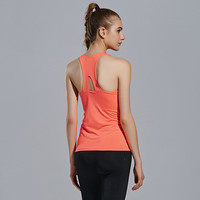 Women Criss Cross Back Sport Suit Fitness Sportswear Stretch Exercise Yoga  Solid Top Top Women Tank Vest _ 12876