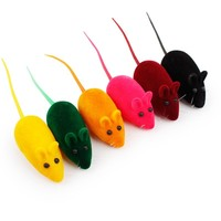 Best Cute Cat Toys Mice Set 5 Pcs Mouse with Squeak Noise Sound Interactive Cat Toys for Kitten Puppy and Small Pets 2.4*1 inch