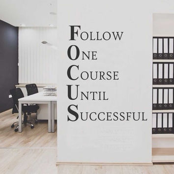 Focus Workplace Definition Quote | Office Decal | Vinyl Wall Lettering