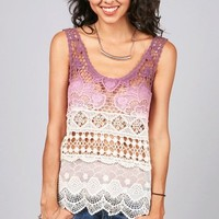 Delicate Dye Top | Crochet Tops at Pink Ice