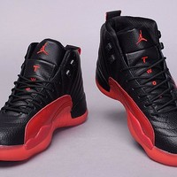 "Air Jordan 12 Retro ""Flu Game"" AJ12 Basketball shoes"