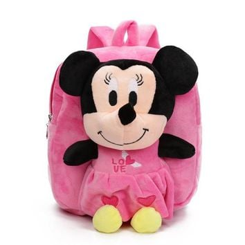 Boys Backpack Bag Children's Gift Kindergarten Girls  Cartoon Plush Baby School bags Kids Schoolbag With Cute Dolls Toy For 2-5 Years AT_61_4