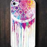 Dream Catcher iPhone 4 Case, iPhone 4s Case, iPhone 4 Hard Plastic Case, Personalized iPhone Case--water proof