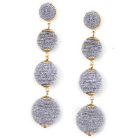 Glitzy Bubbles Earrings - Silver