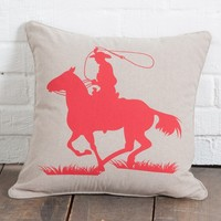 Red Roper Toss Pillow - Pillows - Home Decor - Home