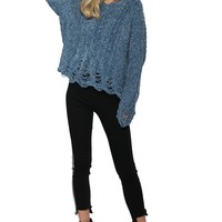 Brooklyn Karma Deconstructed Chenille Sweater