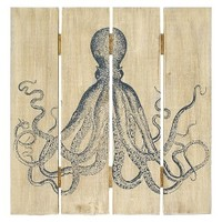 Octopus On Wood Panel 20x20