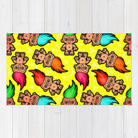 Troll Doll Pattern Area & Throw Rug by chobopop | Society6