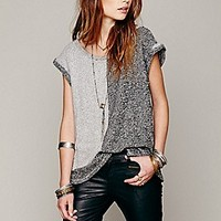 Rolled Sleeve Tonal Pullover
