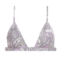 Lilac Paisley Hunter Triangle Bikini Top