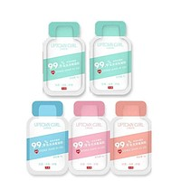 5 Pack 99.9% Antibacterial Travel Portable Disposable Quick Dry Hand Sanitizer
