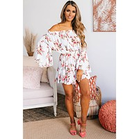 Expression Of Love Floral Romper (White)