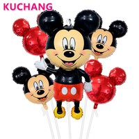 5pcs/lot Mickey Minnie Mouse Air Foil Balloons Boys Girls 1st Happy Birthday Baby Shower Party Decorations Globos Child's Toys