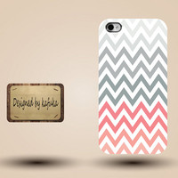iphone case, i phone 4 4s 5 5s 5c case, iphone4 iphone4s iphone5 case, plastic rubber silicone cases cover, red grey  chevron  zigzag p1302