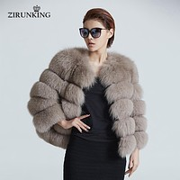 Women Warm 100 % Real Fox Fur Coat