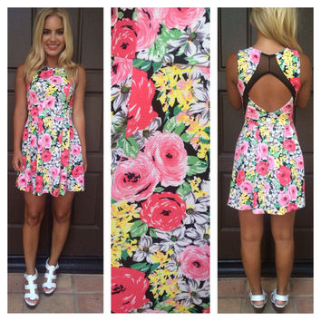Singing In The Garden Cutout Dress