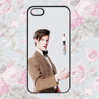 Doctor Who Matt Smith 11th Doctor iPhone 4 4s 5 Case Cute Hipster Dr Who