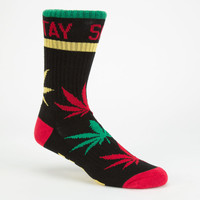 Dgk Stay Smokin Mens Crew Socks Black Combo One Size For Men 24847514901