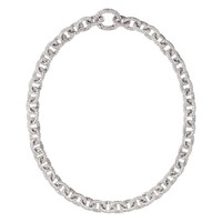 ReneSim Pave Diamond Gold Link Chain Necklace