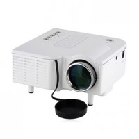 Projector Multimedia LED LCD Portable Projector Compatible with Smart Phone for Iphone 4/4s,ipad,samsung Galaxy I9300,n7000,i9100(white)