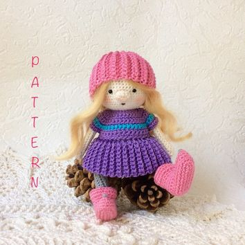 Amigurumi doll pattern crochet doll pattern cute little girl | Etsy | 354x354