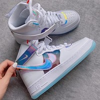 Nike Air Force 1 High Have A Good Game colorful laser Velcro sneakers shoes