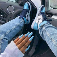 Nike AIR Jordan 1st generation AJ1 men's and women's classic basketball shoes high-top casual sports shoes 3