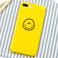 Smiley Face Pattern Case for iPhone X 8 7 6S Plus &Gift Box