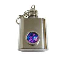 Bordered Bright Nebula Cloud Keychain Flask
