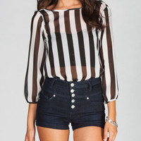 LIVE 4 TRUTH Stripes Womens Bow Back Top 224410125   Blouses & Shirts   Tillys.com