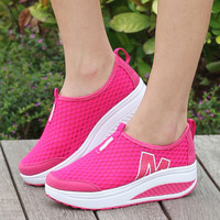 2017 women casual shoes height increasing summer shoes woman breathable swing fashion casual shoes for women height increasing80