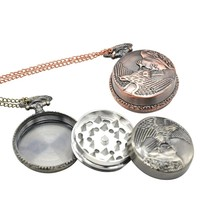 High Quality Pocket Watch Style 3 Layers Metal Tobacco Crusher Smoke Herbal Herb Grinder Smoking Detectors Pipes Tools Grinding