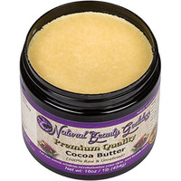 Cocoa Butter Raw Pure Unrefined with Chocolate Aroma - One LB (16oz) - Best Organic Formula for Lotion, Cream, Lip balm, Oil, Stick, Soap and Stretch marks, Perfect for Dry Skin Face and Hair Care