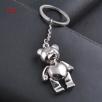 Lovely Bear Hand Arm Leg Move Mini Classic Stainless Cool Charm Pendant Car Keyring Key Chain Creative Party Delicate Gift