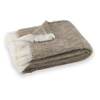 Brushed Alpaca Throw Driftwood by Lands Downunder