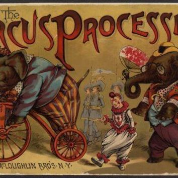 Circus Vintage Art Poster 27inx40in
