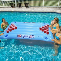 Table Water Floating Raft Lounge Pool Drinking Game 24 Cups Holder