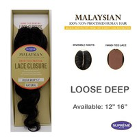 100% HUMAN HAIR- LACE CLOSURE - LOOSE DEEP